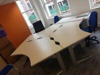 Office desks - cluster of 3 large desks / tables - cheap price for quick sale