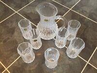Cristal d'Arques tumblers/glasses and matching jug