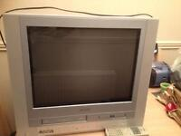 Toshiba tv with DVD and VHS player