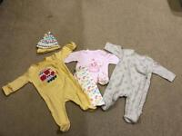 Girls 0-3 months old clothes