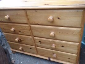 8 DRAW DUCEL PINE CHEST OF DRAWS