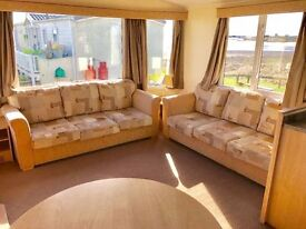 😀😀stunning 3 bed static caravan for sale with SEA VIEW at Sandy Bay Holiday Park Low Site Fees😀😀