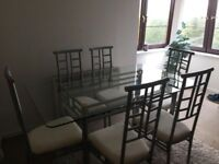 Dinning Table with six Chairs and Matching Console table