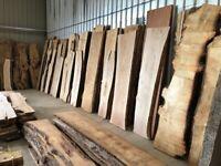 Live edge hardwood slabs available