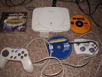 PLAYSTATION 1 SLIMLINE WITH GREAT GAMES