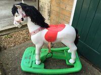 Rocking horse for garden