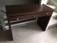 Dresser Table with Mirror and Drawers - Dark Brown