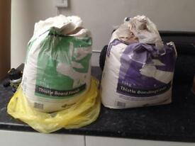 2 nearly full bags of plaster gypsum