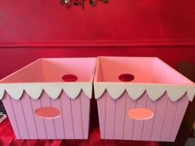 Beautiful pink solid wood boxes