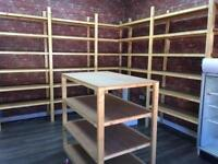 Fitted wooden shelving