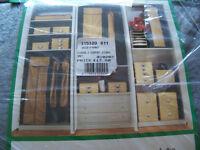 6 Shelf Cotton Fleece Fabric Hanging Storage Unit/Organiser New