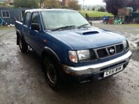 breaking blue nissan navara 2.5 td turbo diesel manual 4x4 double cab parts spares conversion engine