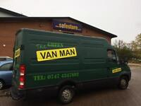 Man and van - The green van man - fully insured - 1 or 2 man available Newcastle Durham Sunderland