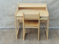 Wooden desk and chair set (Delivery)
