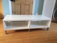 White IKEA TV cabinet, used as coffee table. RESERVED