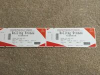 2 x Rolling Stones Tickets @ Cardiff 15th June with Elbow Support Act, Excellent View Block M12 row2