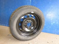 BMW 1 Series new full size steel spare wheel with part worn Kleber Quadraxer 205 55 16 tyre