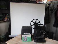 cine projector & fold up screen