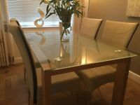 Pristine Condition Dining Room Table & Chairs, Consol Table & Side Table Available