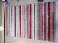 John Lewis striped wool rug 180x120cm