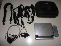 Portable Philips DVD player with Case and Straps