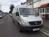 2007 MERCEDES BENZ SPRINTER 2.2 DIESEL MANUAL 5 SEATER SILVER 12M MOT QUICK SALE!!!