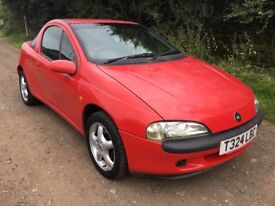1999 T VAUXHALL TIGRA 1.4 I 2 DR COUPE AUTOMATIC LOW MILEAGE LONG M.O.T