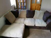 3 Seater Corner Sofa and Storage Foot Stool