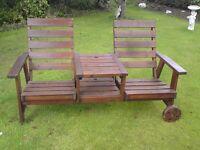 Two seater garden bench (mobile)