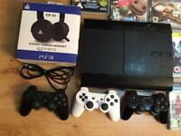 SONY PS3 SUPER SLIM WITH 20 GAMES