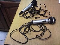 THE SINGING MACHINE MICROPHONE PLUS ANOTHER UNBRANDED MICROPHONE