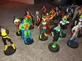 OPEN TO OFFER 2009 Figurine DC Comics Eaglemoss - black atom, flash, superman etc