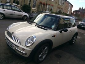 Lovely Cream & Black Mini Cooper For Sale - Due To Going Travelling
