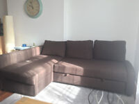 Brown corner sofa bed with storage IKEA FRIHETEN