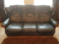 Suite of Furniture, Sofa, Couch, Leather