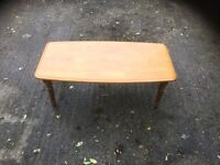 PINE COFFEE TABLE ON BARLEY TWIST LEGS
