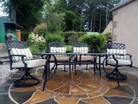 Garden furniture set, table and chairs