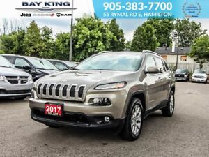 2017 Jeep Cherokee NORTH 4X4, BLINDSPOT, SUNROOF, BACKUP CAM
