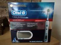Oral-B Triumph 5000 Smartguide Toothbrush Brand New