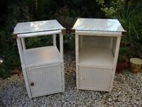 Two LLoyd Loom Bedside Cabinets