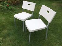 **2 x IKEA chairs (white and grey)**