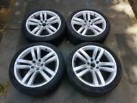 VW KANSAS 18 INCH ALLOY WHEELS 5X112 PASSAT GOLF EOS CC CADDY AUDI TT