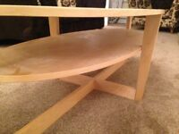 Two tier oval retro pine Coffe table