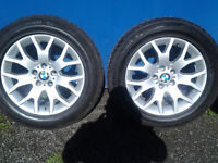 bmw x5 18inch alloy wheels and tyres+accessories