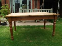 3ft x 5ft sturdy pine dining kitchen table