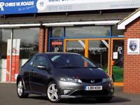 HONDA CIVIC 1.8 I-VTEC TYPE S GT 3d 138 BHP ** Twin Pan Roof + (grey) 2011