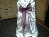 288 satin chair covers used once in great condition