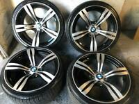 """19"""" BMW 19 Inch M3 M4 Style Alloys 3 series fitment 5x120 F30"""