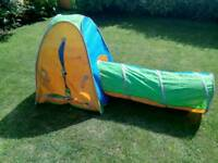 Chad Valley Active kids tunnel and tent combo