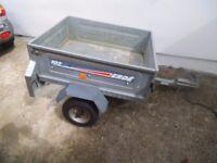 Car trailer - Erde 102 - needs slight attention - bargain cheap Galvanised droptail gate